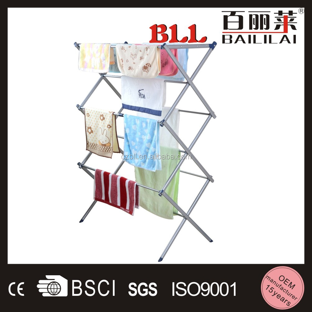 Indoor 3 Tier Folding Laundry Hanger Clothes Drying Rack, Outdoor Clothes Airer