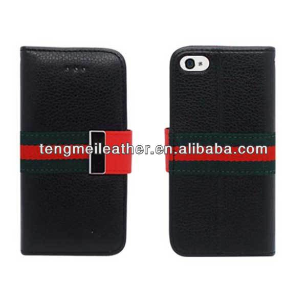 Black Leather Magnet Flip Cover Pouch Case W/ ID Wallet For Apple iPhone 5/5S/5C,Hot selling wallet case for iphone 5