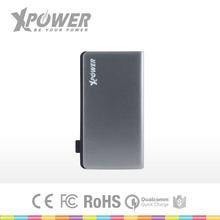 Customised Lithium polymer Battery two ports Thin Slim Grey color Backup external power bank