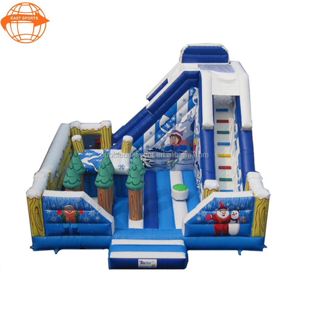 Christmas inflatable baby nemo bouncer jumping castle with slide for kids