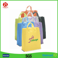 60*60cm Factory Customized Square Bottom Plastic Shopping Bag Polythene Loop Handle Plastic Bags