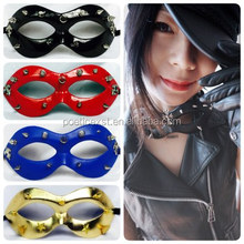 Festive & party supplies Different colors available Half-face leather with rivet fancy punk mask