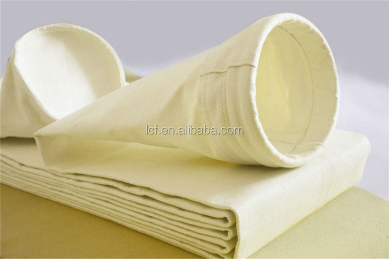 Polyester water and oil proof and anti-static dust filter bag for flour mill