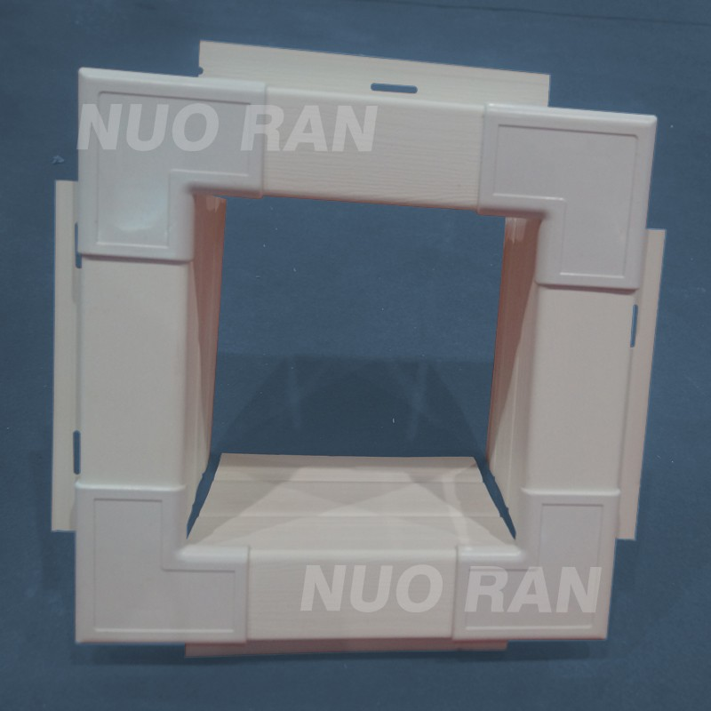 PVC wall cladding and accessories plastic soffit with hole for facade