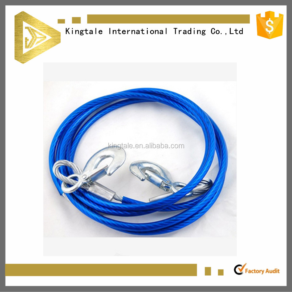 PVC coated galvanized steel wire rope dog leash excellent durability