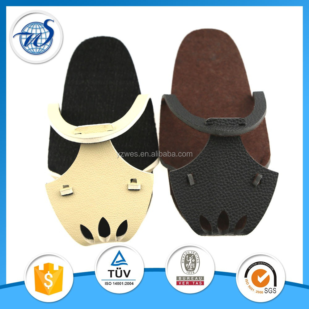 Dual protable washable leather slippers