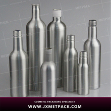 china 100ml 750ml aluminum empty wine bottle aluminum beverage bottle with aluminum screw cap