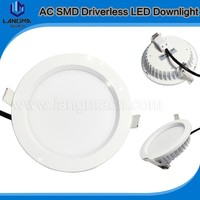 Langma 220V AC/230V AC/240V AC slim round 7W/10W/12W/15W/18w/24W dimmable lamp recessed Ultra thin grid led down light