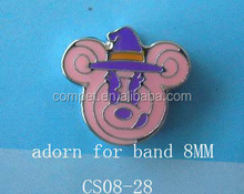 Factory Selling Fashional Metal Jewelry Zinc Alloy Small Animal Portrait 8mm Slide Charms
