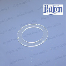 optical glass ring with hole