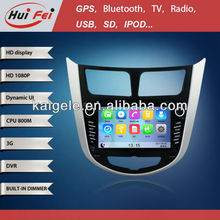 HuiFei 7 Inch 1080P HD multimedia MTK-A9 Platform Car GPS DVD with Support 3G WIFI turkish language car radio