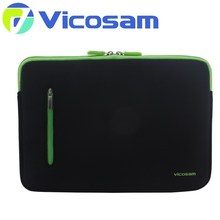 2017 fashion 13 neoprene laptop sleeve for macbook with zipper , protective sleeve case for tablet pc with many colors available