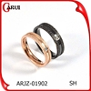 Mix Color gold /silver/ black/ rose gold diamond ring jewerly stainless steel rings