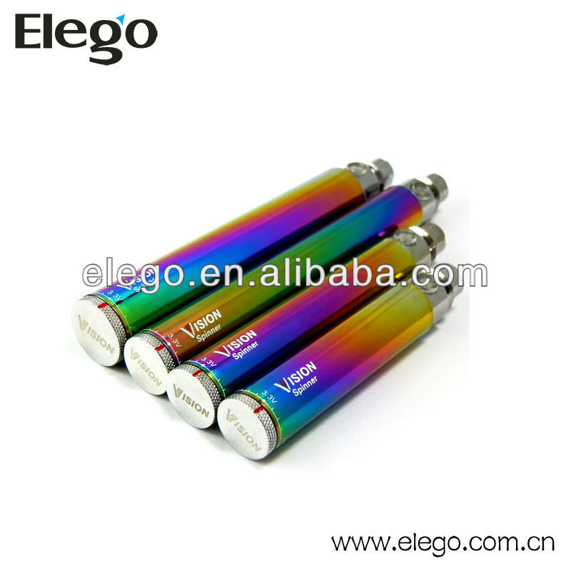 1300 mAh E Cig Battery Vision Spinner Rainbow Hot Electric Cigarette