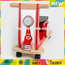 Wholesale cool style hot sale indoor red wooden baby balance bike W16C186