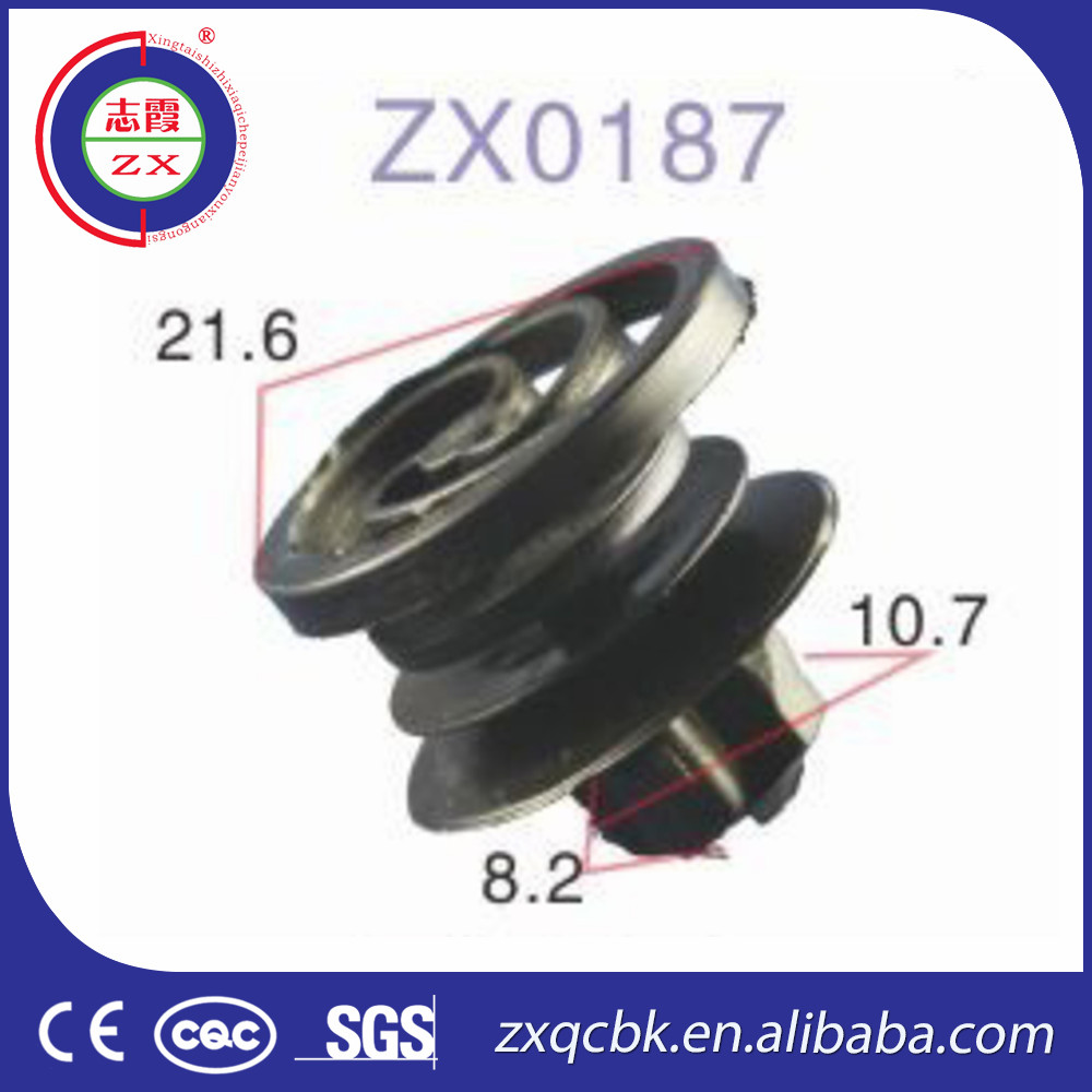ZX material clips manufacturers for auto plastic fasteners and clips/auto body clips and fastener