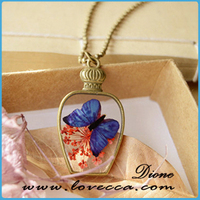 Real insect flower sea life embedded Wholesale fashion jewelry necklace