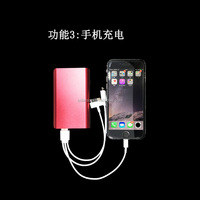 New Products Solar Mobile Phone Charger 5000mah with LED Light , 2.5W Dual USB Solar Charger PowerBank