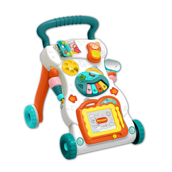 Customized baby activity walker with music toys learn to walk
