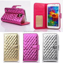 Factory price cheap phone flip leather case for samsung galaxy s5 case, for galaxy s5 i9600 active case slim luxury cover