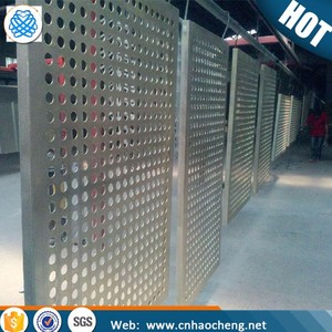 304 Stainless steel perforated metal screen sheet/stainless steel well screen