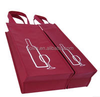 Double bottle and single bottle wine packaging bag