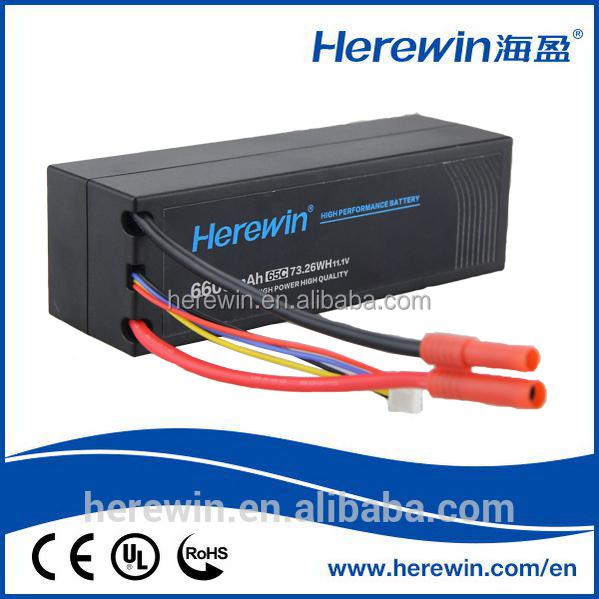 Hard case high discharge rate lipo battery 7.4v 6000mah akku for drone