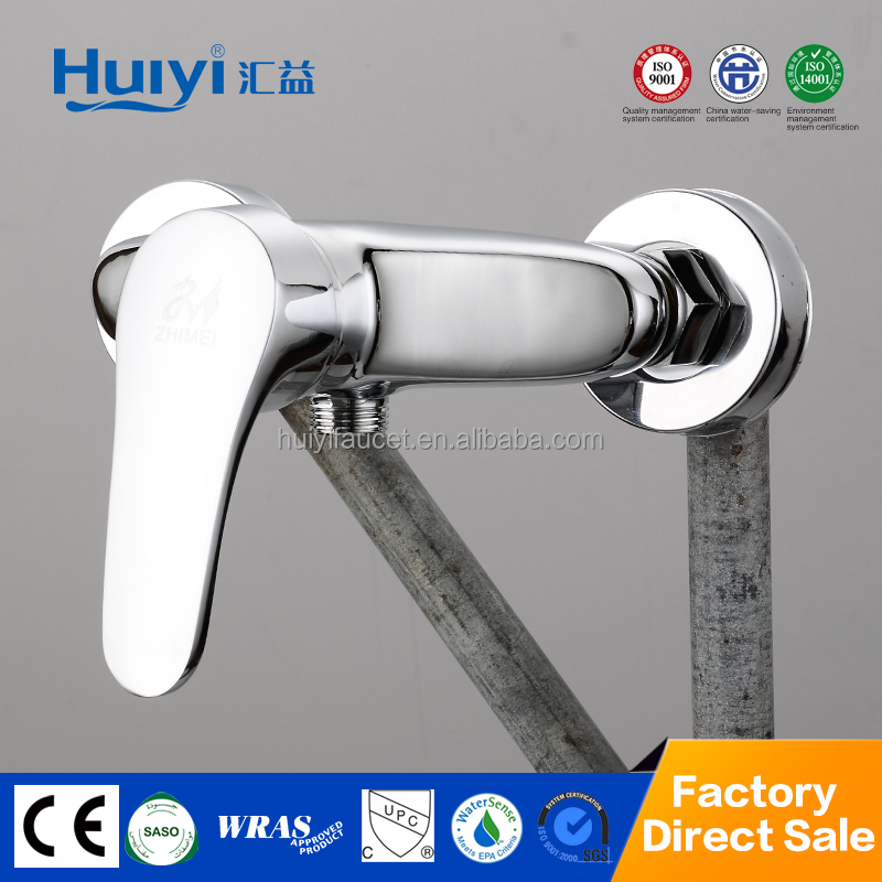 Modern design cheap price single handle double hole brass chrome shower faucet HY-85304