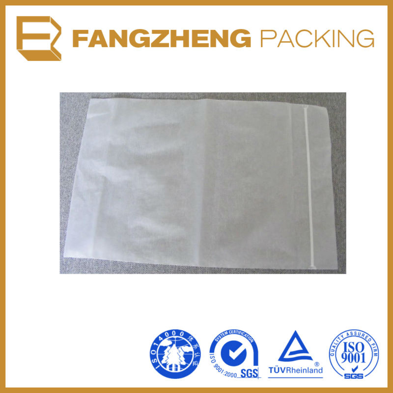 Clear LDPE heat sealed envelopes zipper bank bags