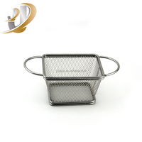 Eco-friendly Stainless Steel Cooking French Fries Wire Mesh Mini Fry Basket