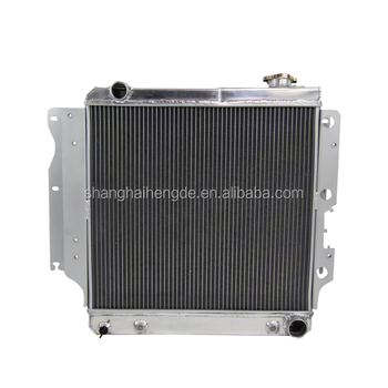 Full aluminum radiator for 1987- 2006 Jeep Wrangler YJ ALL Aluminum Radiator 3 Row