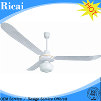 Commercial Grade CE CB white ceiling fan with light