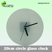 Designable 20cm Circle clock for sublimation photo printing