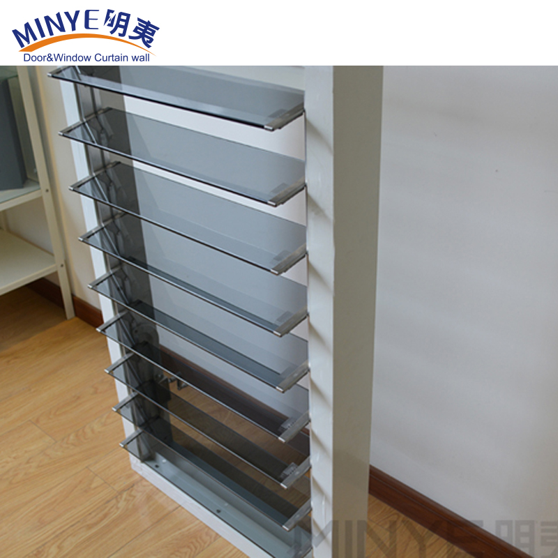 Unique design security window shutter with mosquito scrreen/aluminum frame glass shutter