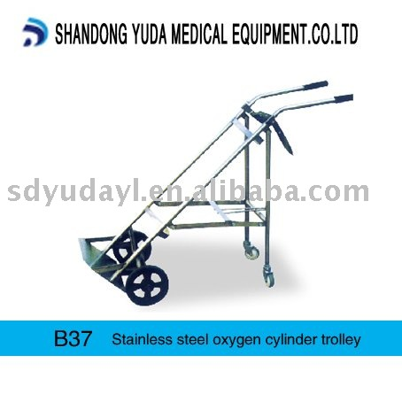 B37 stainless steel oxygen cylinder trolley hospital equipment for medical use