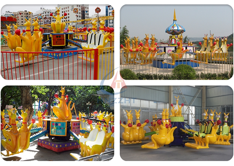 Theme park indoor outdoor attraction jumping kangaroo equipment