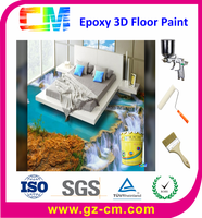 Promotional Solvent free Self leveling 3D Epoxy Resin Floor Paint