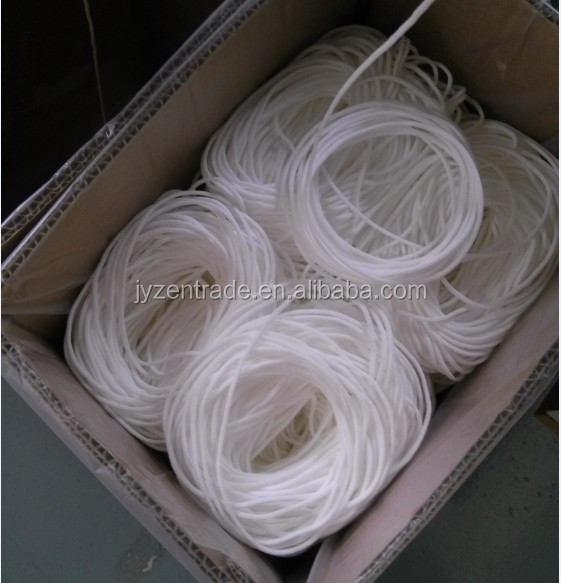elastic ear loop round white cord band rope