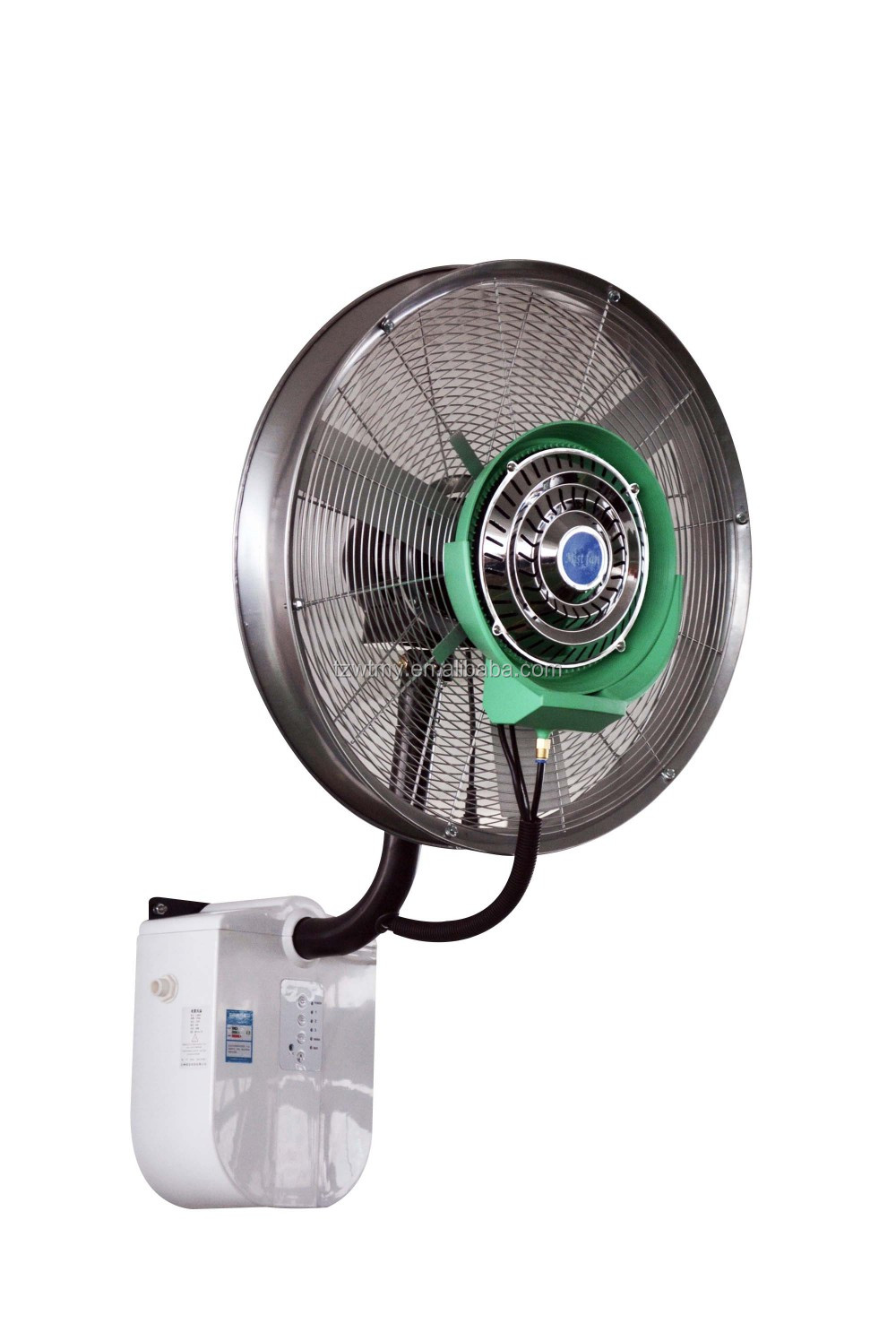 Oscillation industrial wall mounted water mist fan with CE SASO