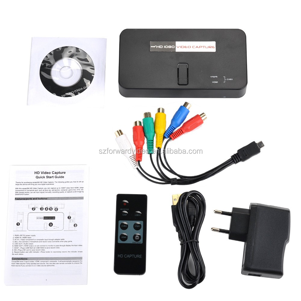 1080p HDMI Game Capture with remote control can snapshot the screen hot selling model ezcap284