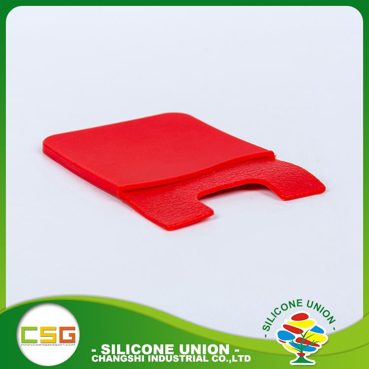 Secure silicone creative phone wallet case