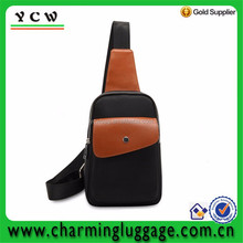 Waterproof Canvas shoulder bag with PU