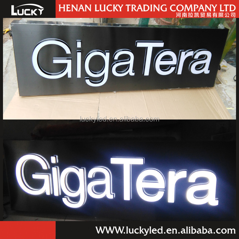 Vivid color free combination letter / home decoration led light box,led glow sign boards