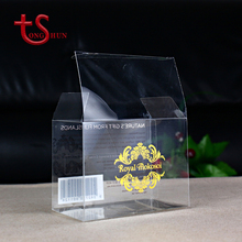 Soft crease folding disposable rectangle PVC clear packaging plastic gift box with handle