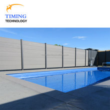 High quality wood plastic composite garden fence WPC wall panel swimming pool fence