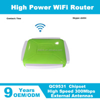 300Mbps QCA9531 chipset wifi router with 4 External Antenna