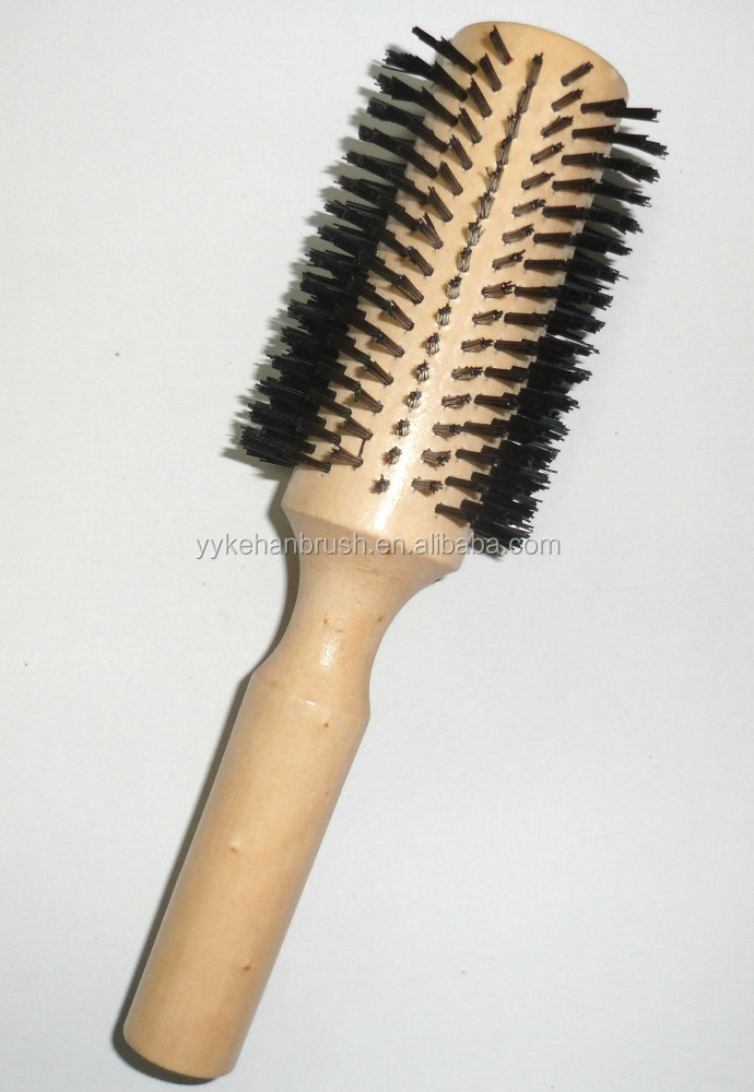 High quality nylon wooden hair brush