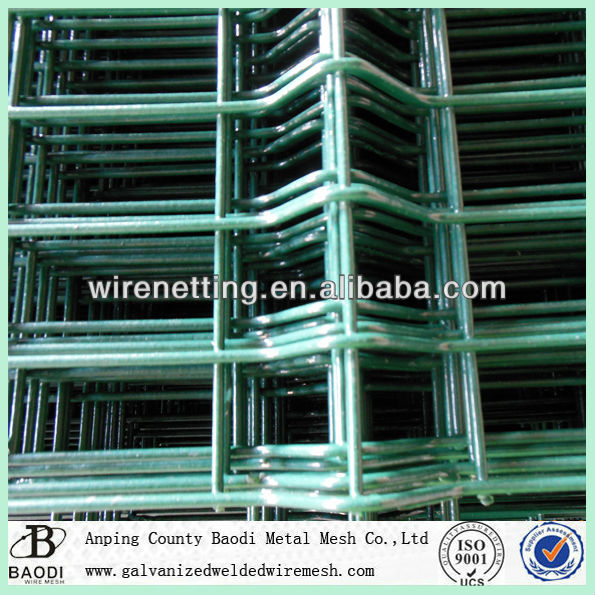 ground fence bended powder coated welded wire mesh panel