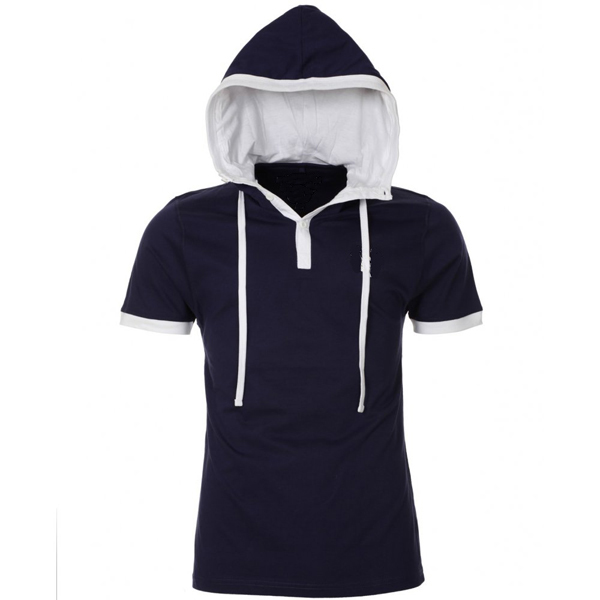 Boys short sleeve hoodies t shirt with hood buy short for Boys long sleeve shirt with hood