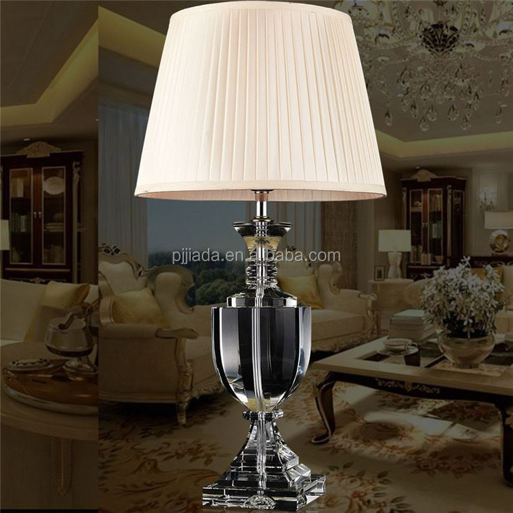 Newest selling different types antique crystal table lamp from China